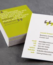 Business Card designs - You can quote me