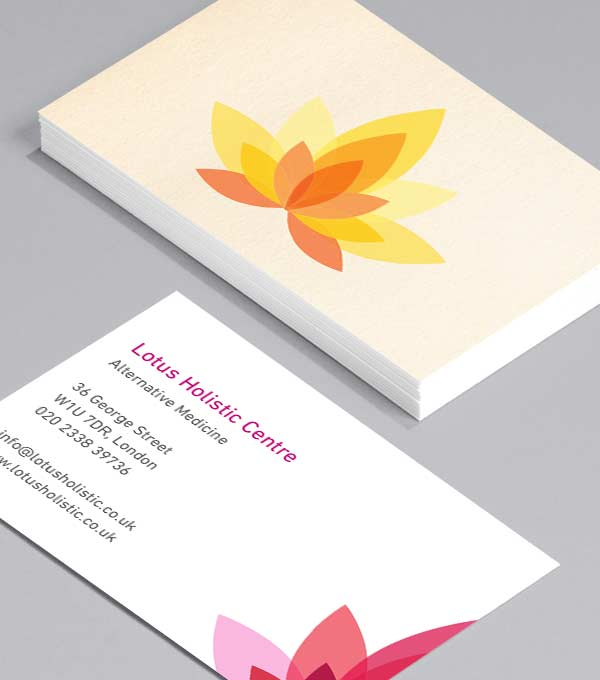 Business Card designs - Holistic Lotus