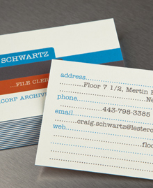 Preview image of Business Card design 'Craig Schwartz'