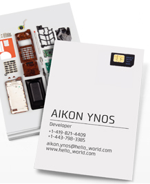 Preview image of Business Card design 'Bits and Pieces'