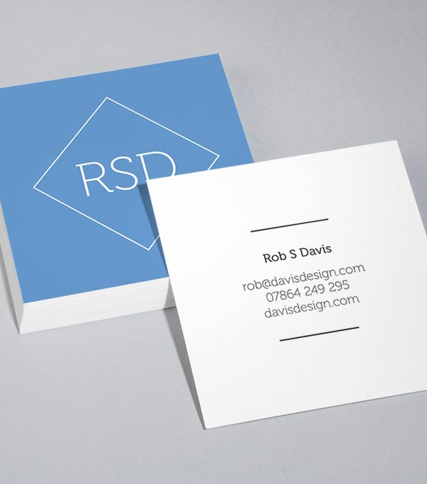 Square Business Card designs - Ship Shape