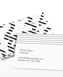 Designs de Cartes de Visite - Abstract Numbers