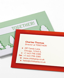 Preview image of Business Card design 'Together!'