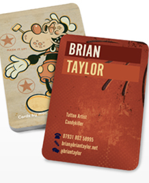 Preview image of Business Card design 'Brian Taylor Tattoons'