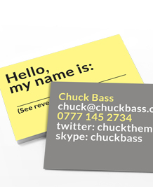 Preview image of Business Card design 'Hello, My Name Is'
