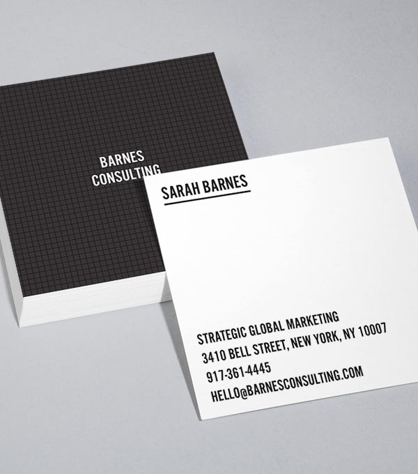 Browse Square Business Card Design Templates MOO United States - Template for a business card
