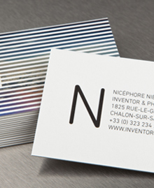 Preview image of Business Card design 'Nicéphore Niépce'