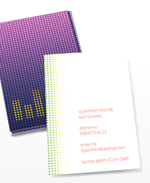 Preview image of Business Card design 'Dotty DJ'