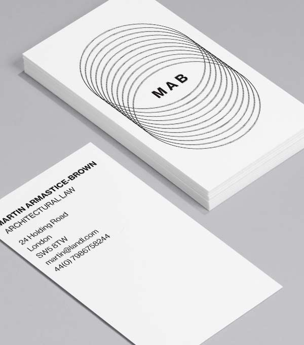 Business Card designs - Serious Face