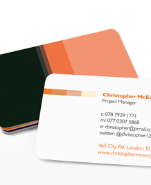 Preview image of Business Card design 'Retro Active!'