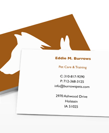 Business Card designs - Pet Silhouettes