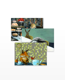 Postcard designs - Woodland Picnic