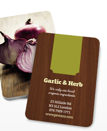 Preview image of Business Card design 'All in the ingredients'