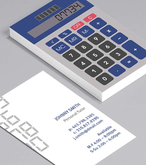 Business Card designs - Retro Calculator
