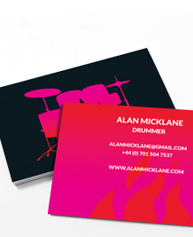 Business Card designs - Drums on Fire
