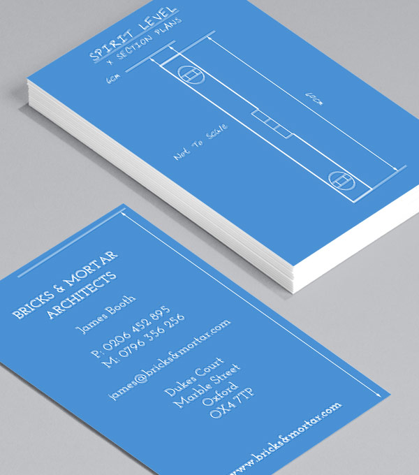 Business Card designs - Tool Blueprints