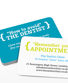 Preview image of Business Card design 'Avoid the Dentist'