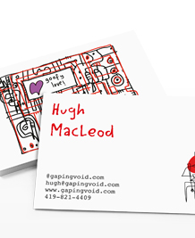 Business Card designs - gapingvoid Love