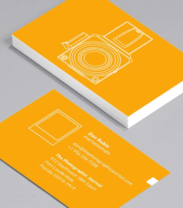 Business Card designs - Camera: negativ