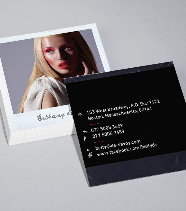 Square Business Card designs - Polaroid