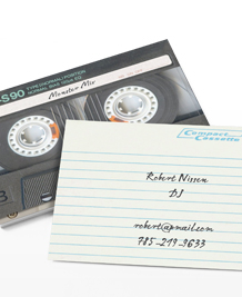 Preview image of Business Card design 'I made you a mixtape'