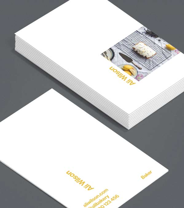 Business Card designs - Side Step Portrait
