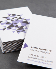 Preview image of Business Card design 'Hans Neuburg'