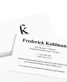 Preview image of Business Card design 'Love letters'