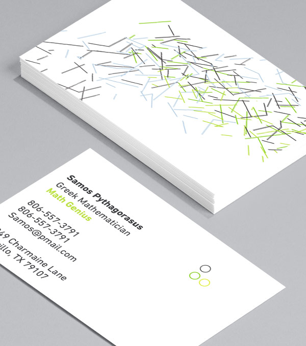 Business Card designs - Abstract Lines Horizontal