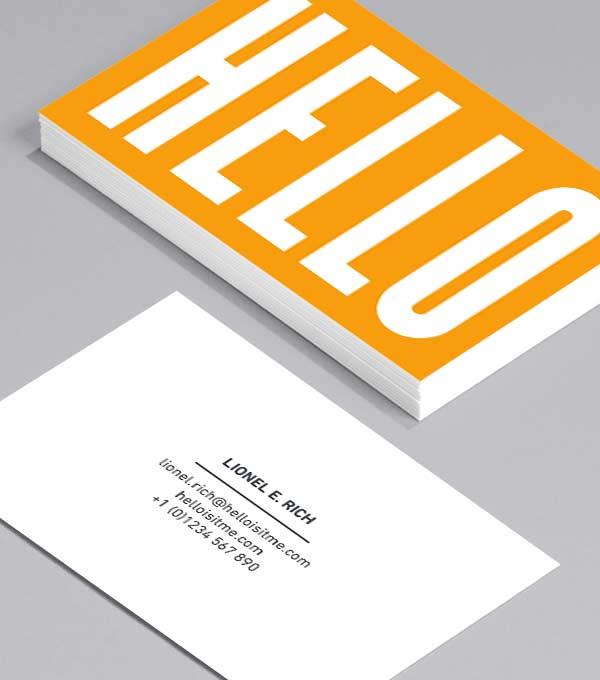Designs de Cartes de Visite - Hello