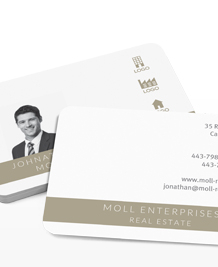Preview image of Business Card design 'Gold Standard'