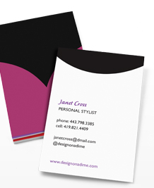 Preview image of Business Card design 'Necklines'