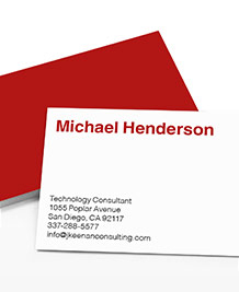 Preview image of Business Card design 'Simply Put'