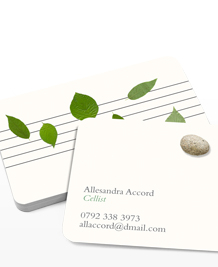 Preview image of Business Card design 'Songs in the key of nature'