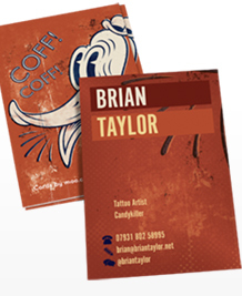 Business Card designs - Brian Taylor Tattoons