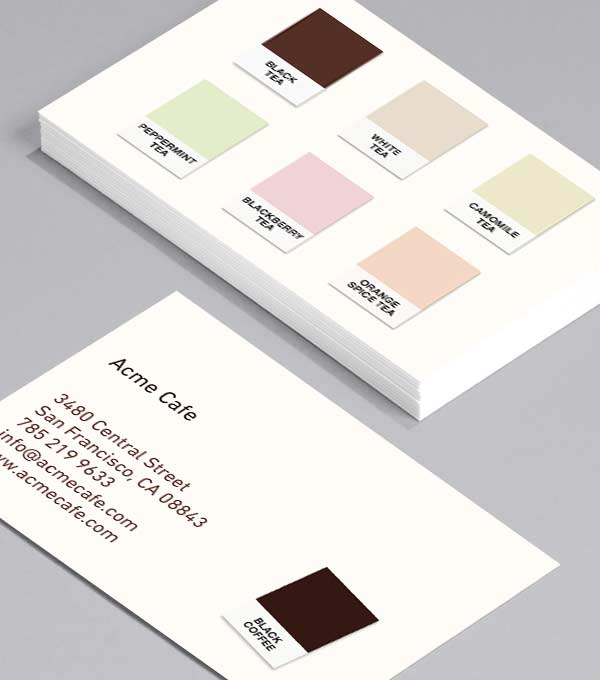 Business Card designs - Coffee Colours