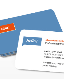 Preview image of Business Card design 'Multilingual Greetings'