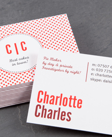 Preview image of Business Card design 'Charlotte Charles'