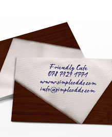 Preview image of Business Card design 'Get me a napkin!'