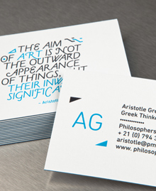 Preview image of Business Card design 'Aristotle'