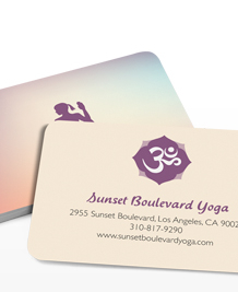 Preview image of Business Card design 'Yoga Poses'
