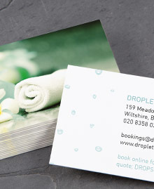 Business Card designs - Droplet Spa