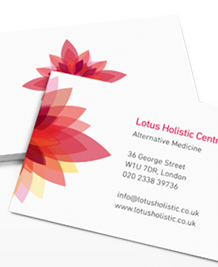 Preview image of Business Card design 'Kaleidoscope Flowers'