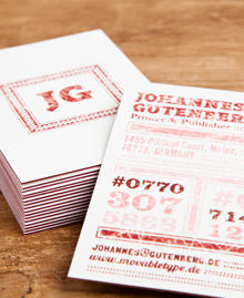 Preview image of Business Card design 'Gutenberg'