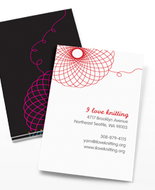 Business Card designs - Neon Spirographs