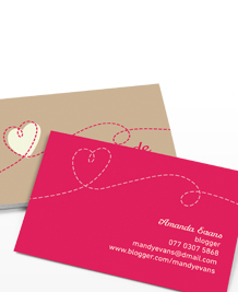 Business Card designs - Love Handmade