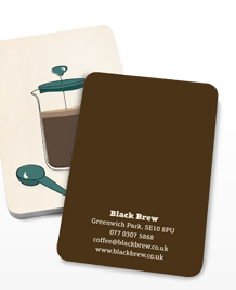 Preview image of Business Card design 'Grind the beans'
