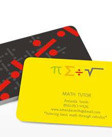 Preview image of Business Card design 'Math Symbols'