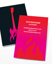 Business Card designs - Guitar on Fire