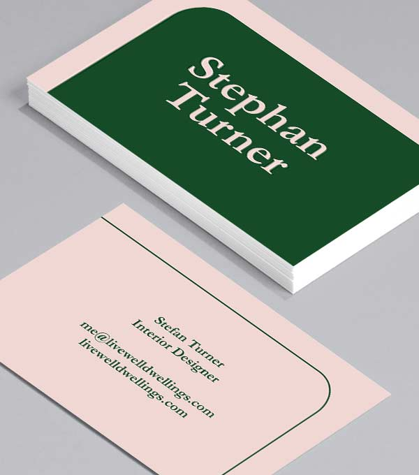 Business Card designs - Pink & Plant